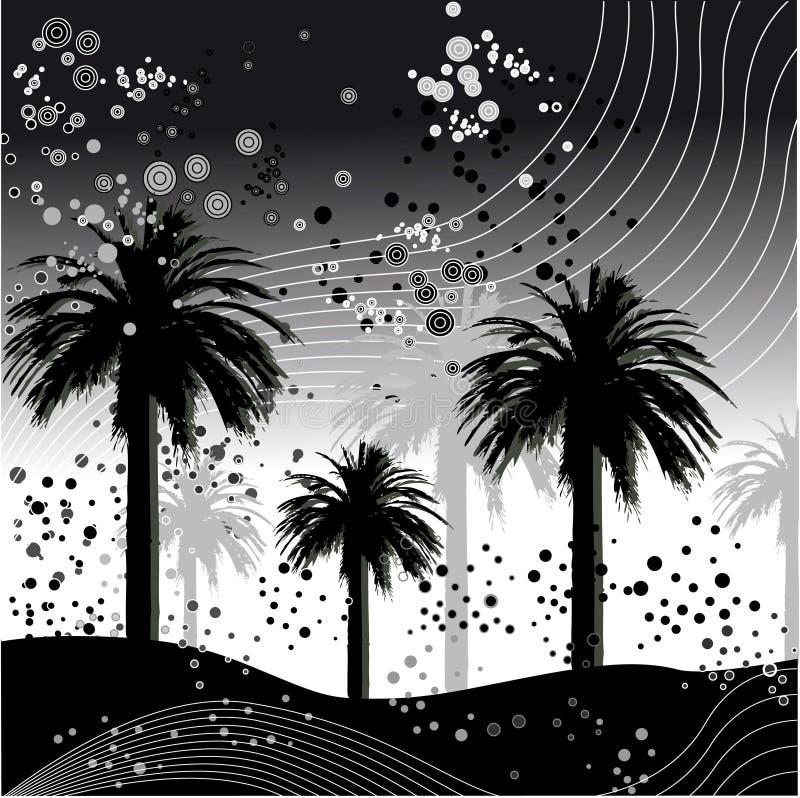 illustrationpalmträdvektor stock illustrationer