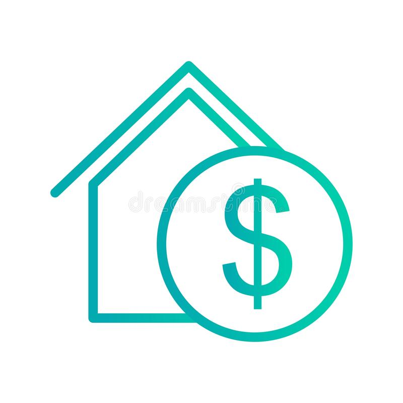 IllustrationReal Estate symbol stock illustrationer