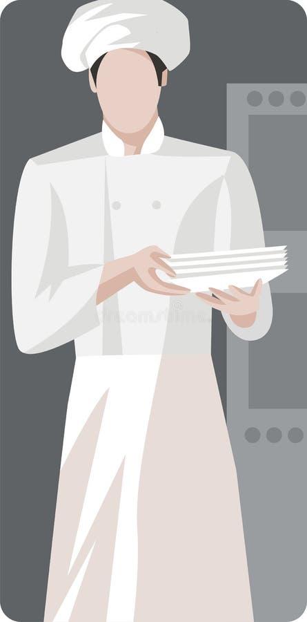 illustrationrestaurangserie stock illustrationer