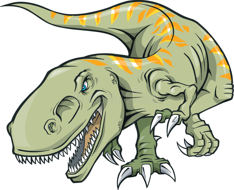 illustrationrextyrannosaurus stock illustrationer