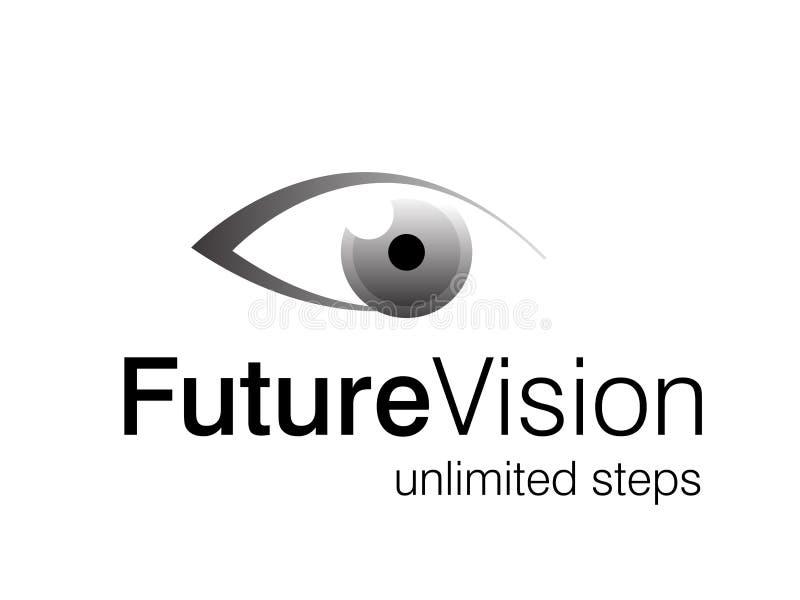 Illustrations 2010-0315. Vector illustration of eye logo, future vision royalty free illustration