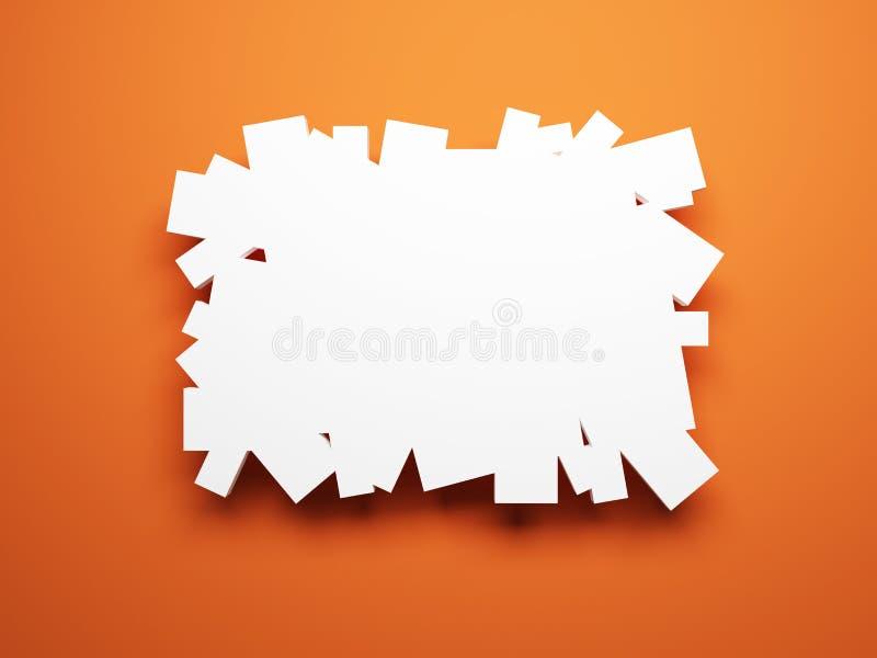 Illustrations blanc sur le mur illustration stock