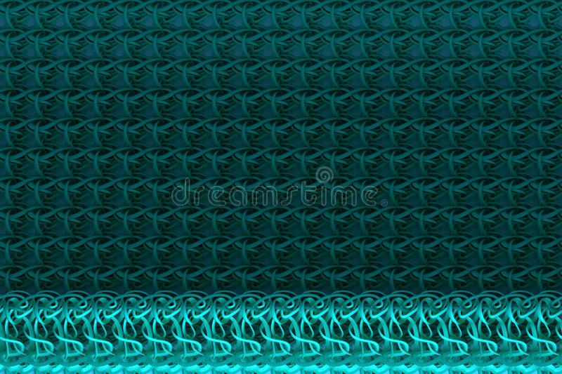 Illustrations of CGI composition, string mat, geometric backdrop for graphic design or wallpapers. 3D render. Abstract geometric backdrop string mat, CGI royalty free illustration