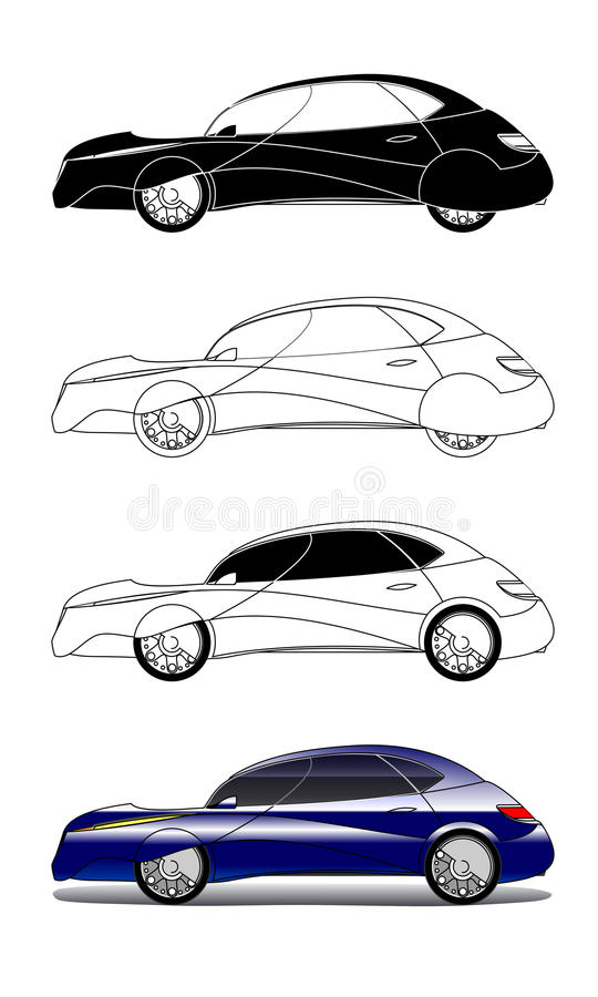 Illustrations concept car royalty free illustration