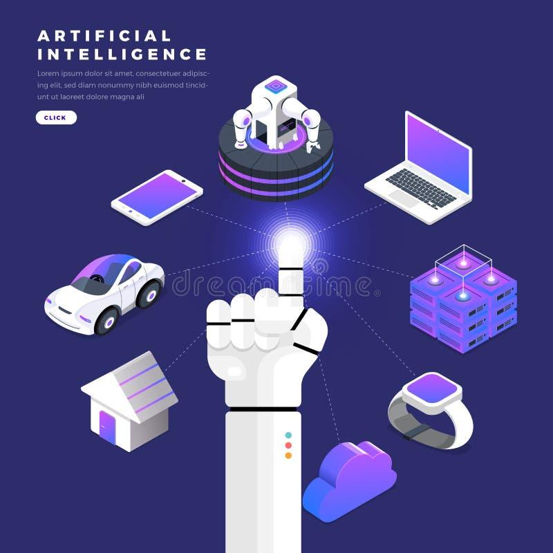 Hand of robot royalty free illustration