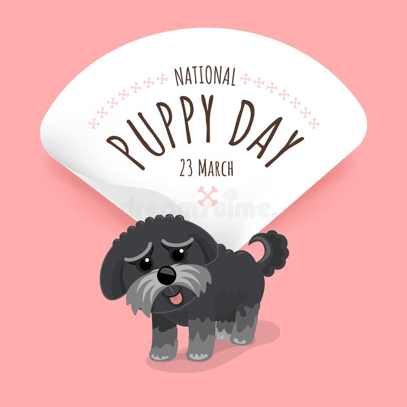 Free Illustrations Concept National Puppy Day. Vector Illustrate. Stock Images - 112981674