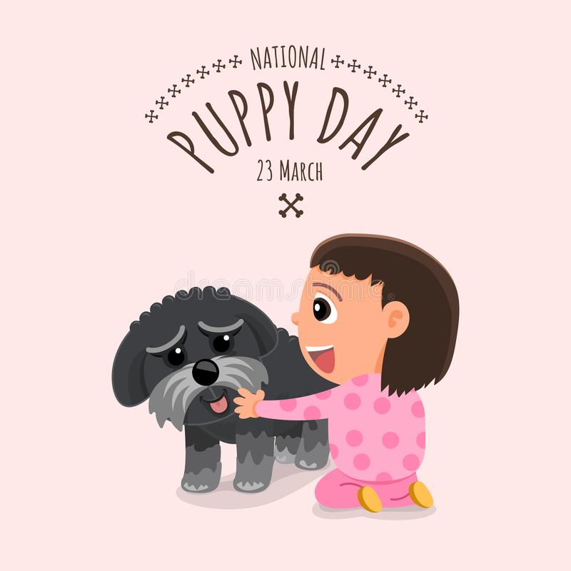 Illustrations concept National puppy day. Vector illustrate. stock illustration