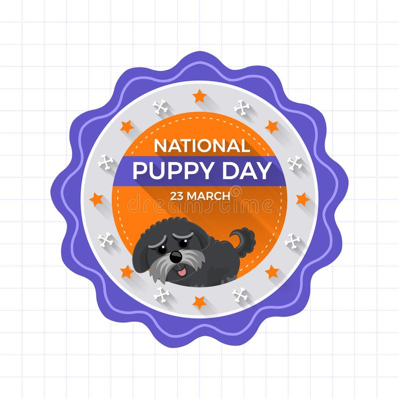 Illustrations concept National puppy day. Vector illustrate. royalty free illustration