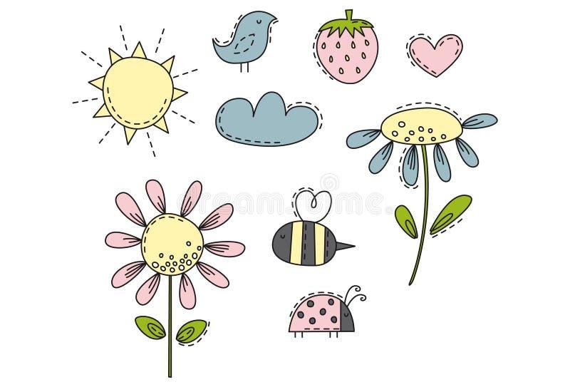 Illustrations d'amusement au soleil image libre de droits