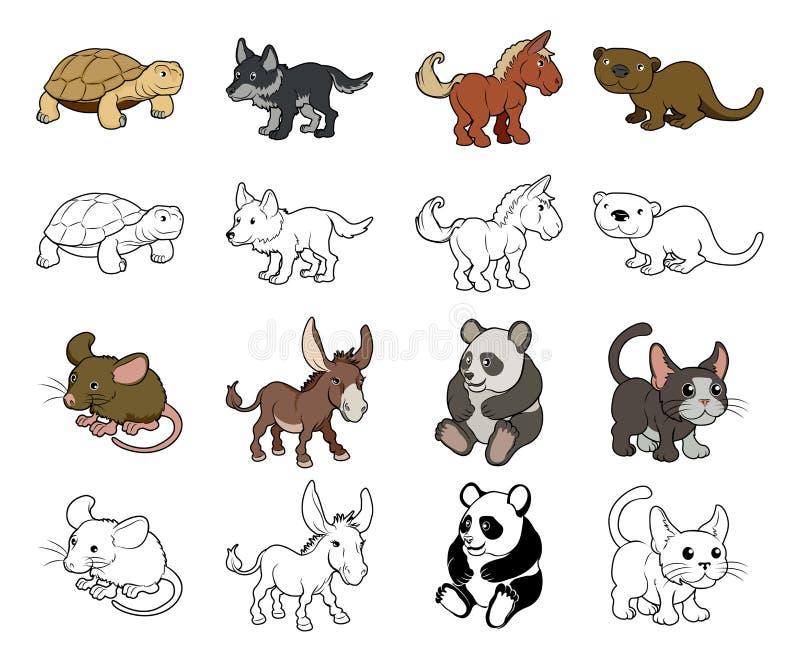 Illustrations d'animal de bande dessinée illustration de vecteur