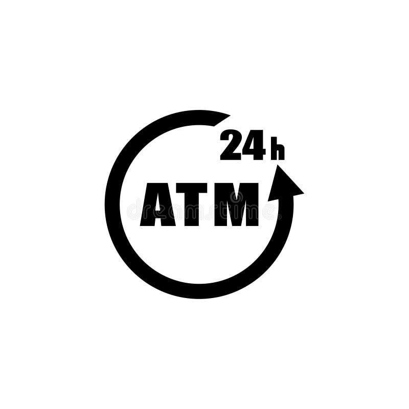 24 illustrations d'icône d'atmosphère d'heure ont isolé le symbole de signe de vecteur photographie stock libre de droits