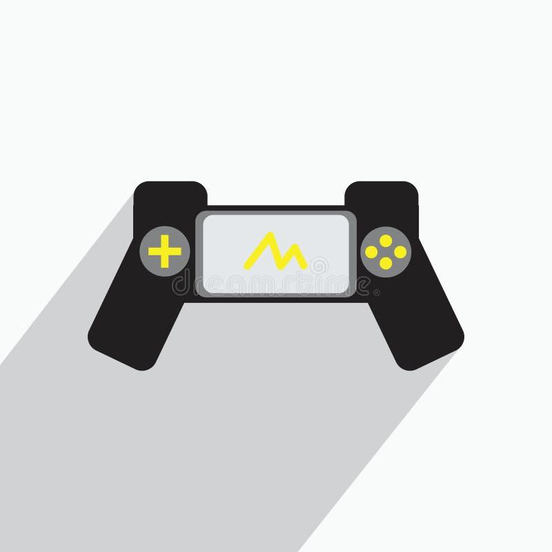 Illustrations d'icône de console de jeu de bâton de joie illustration stock