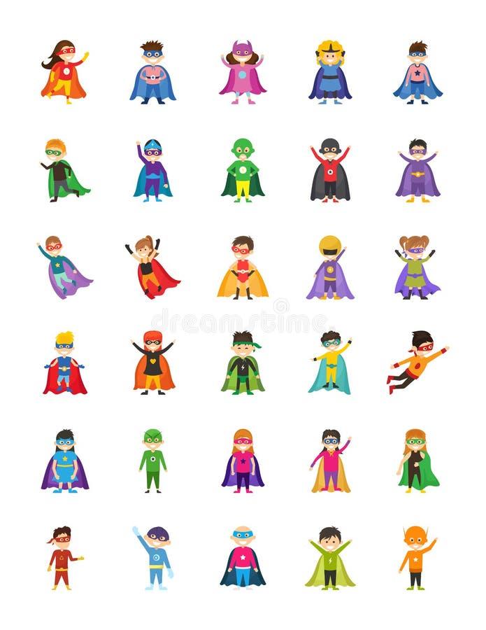 Illustrations de bande dessinée de super héros d'enfant illustration stock
