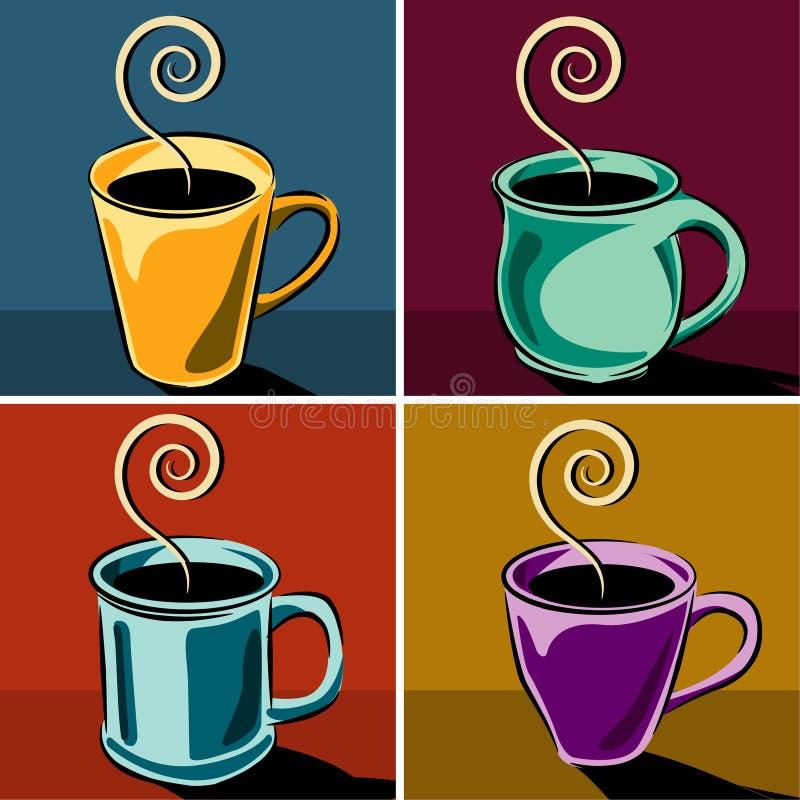 Illustrations de cuvettes de café illustration stock