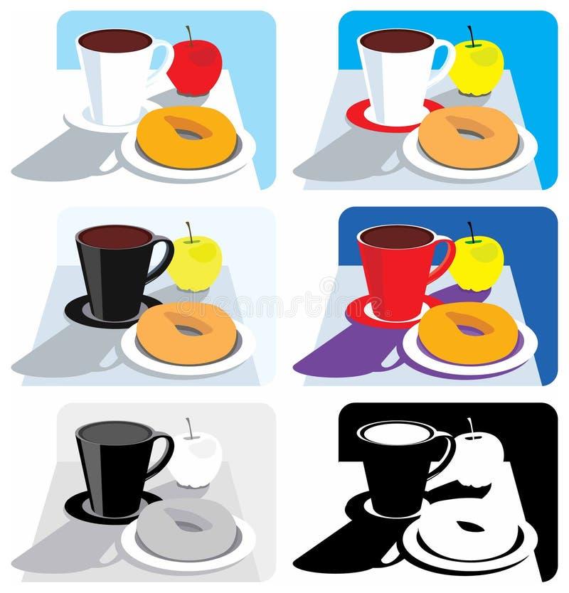 Illustrations de déjeuner illustration stock