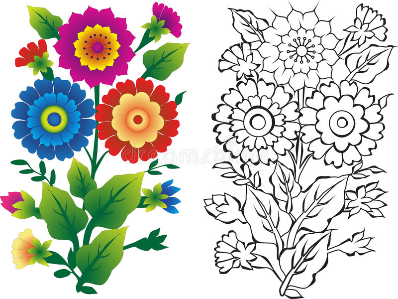 Illustrations de fleur illustration libre de droits