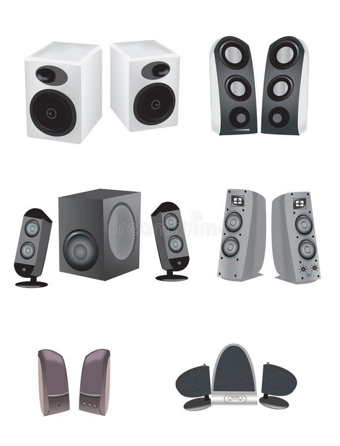 Illustrations de haut-parleur illustration stock