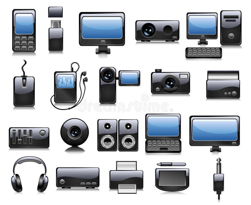 Illustrations de l'électronique illustration de vecteur