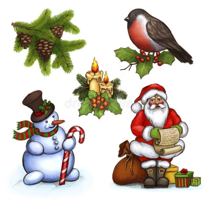 Illustrations de Noël illustration de vecteur