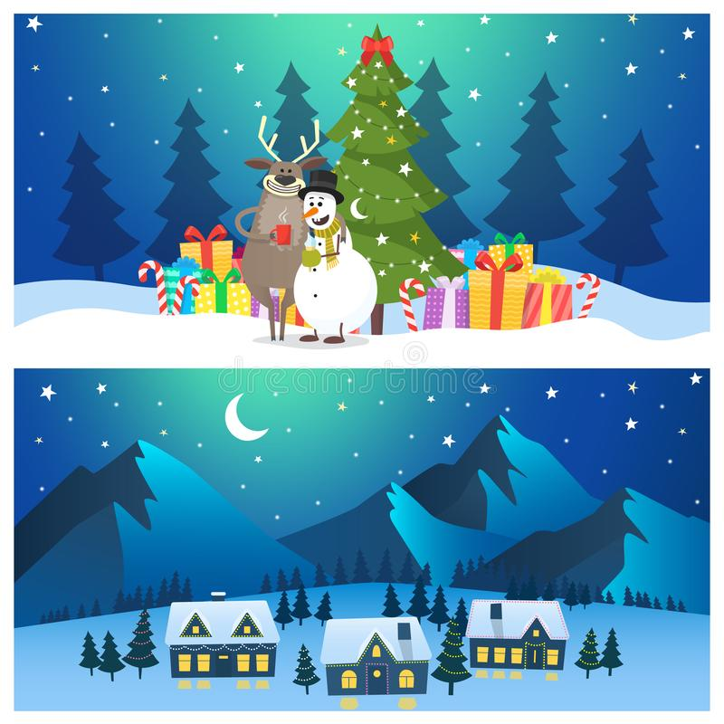 Illustrations de Noël en dessin animé photos libres de droits
