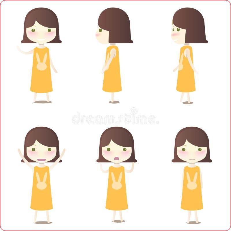 Illustrations de petite fille illustration stock