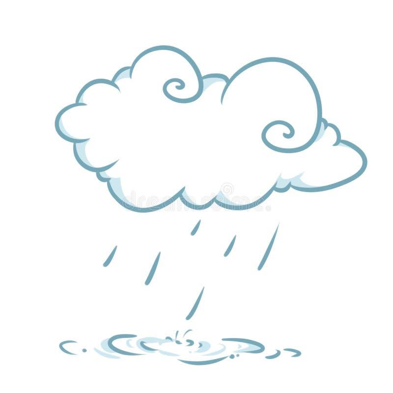 Illustrations de pluie de nuage de temps illustration de vecteur