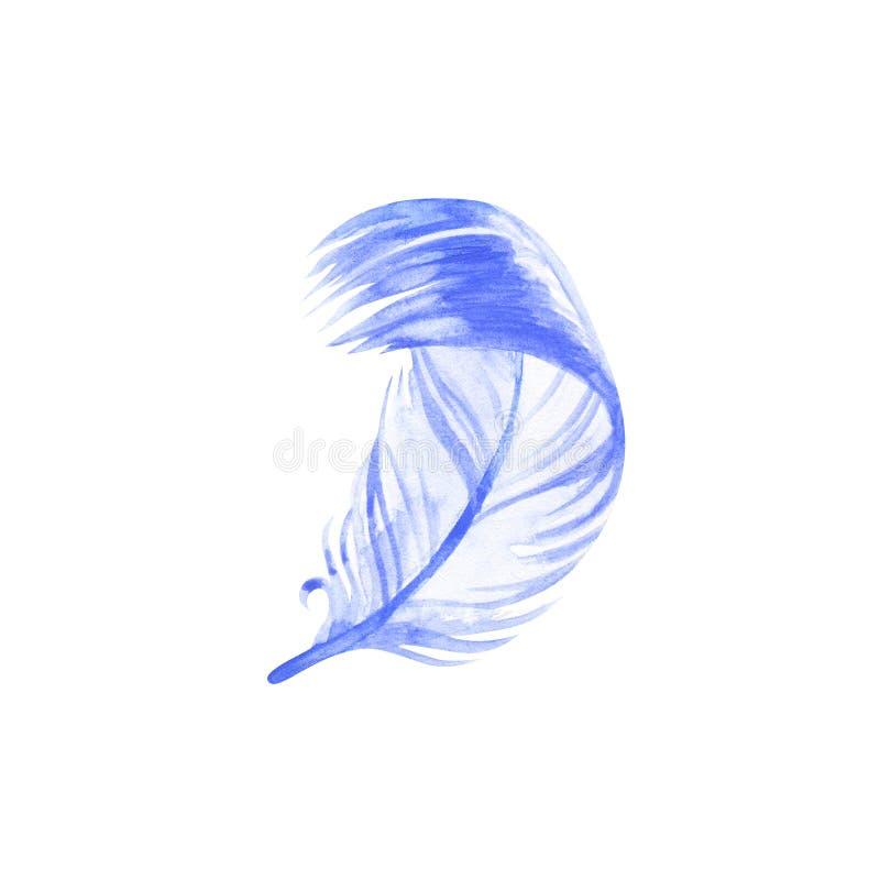 Illustrations de plume de boho d'aquarelle Ensemble de clipart (images graphiques) de P?ques, d'isolement sur le fond blanc illustration de vecteur