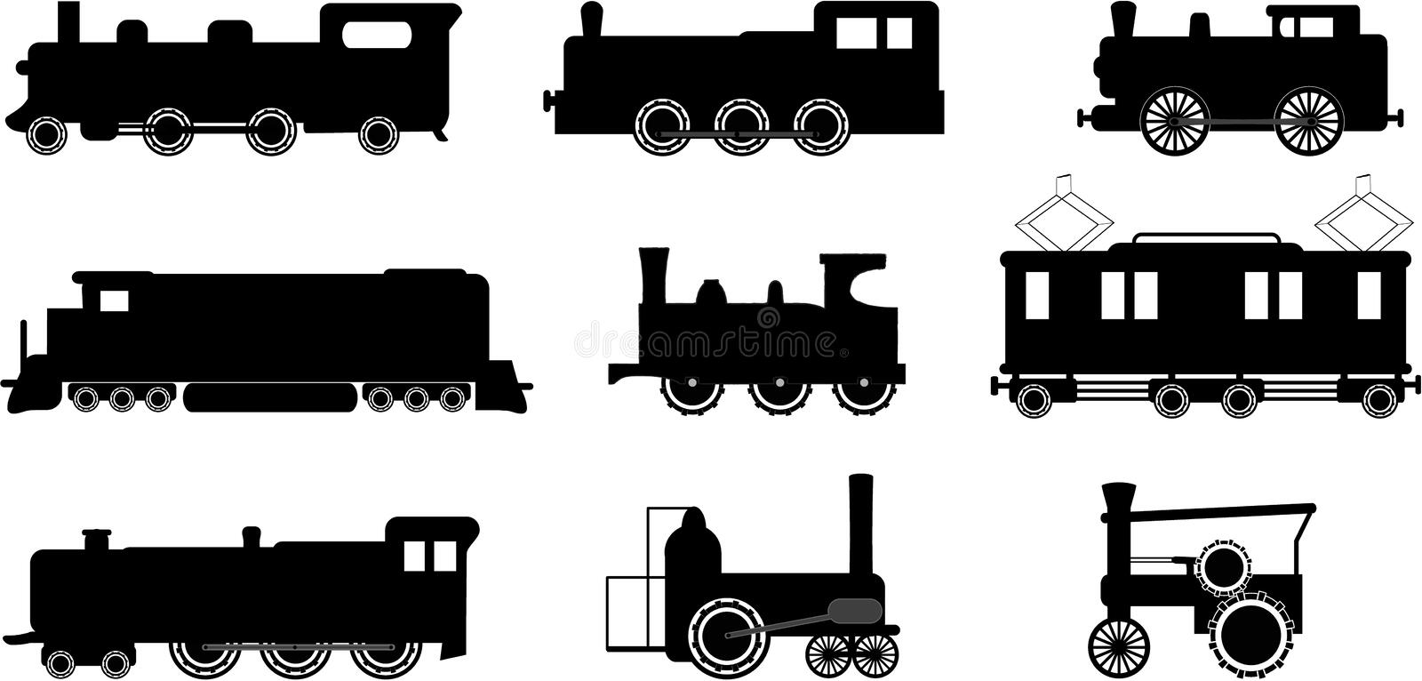 Illustrations de train images stock