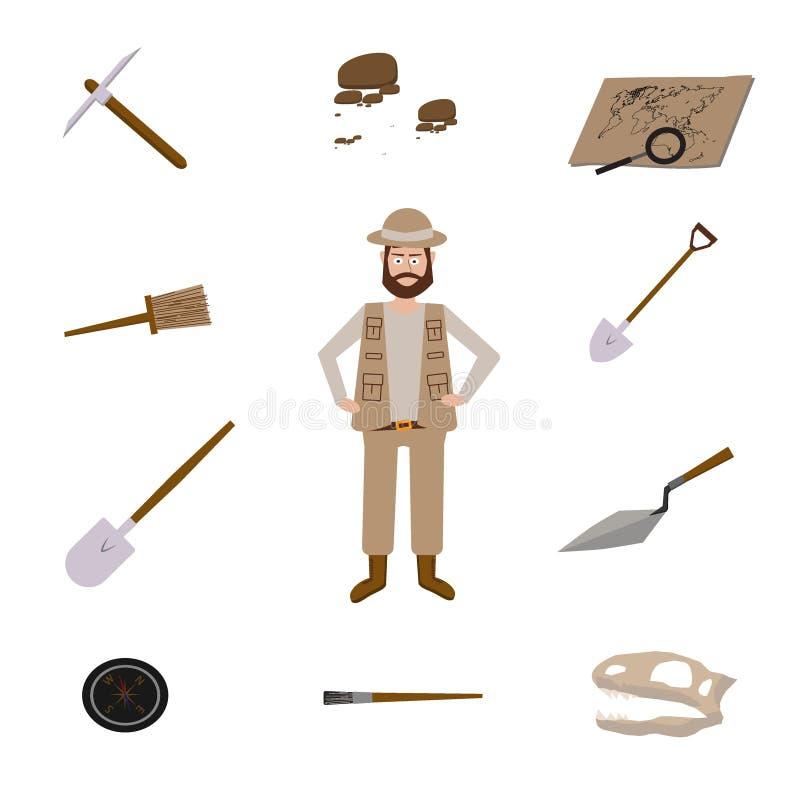 Illustrations de vecteur d'archéologie illustration libre de droits