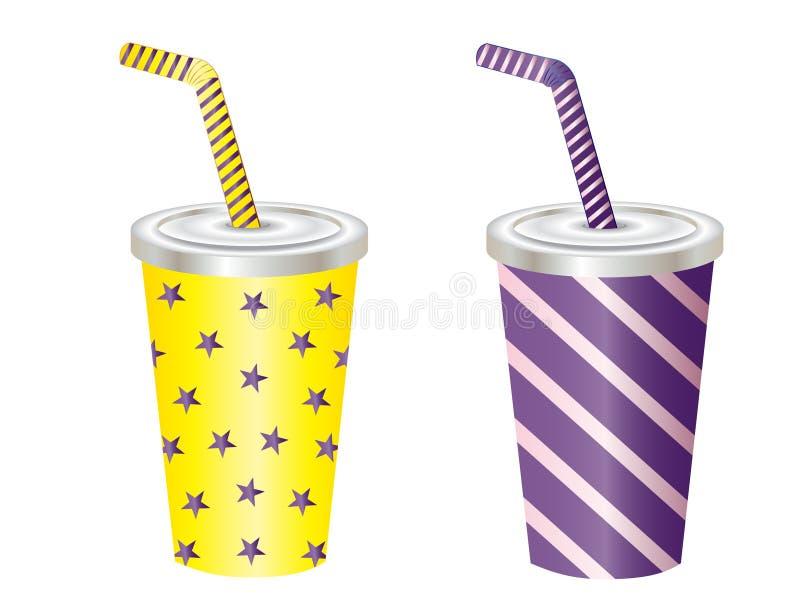 Illustrations de vecteur de tasse de boissons non alcoolisées illustration stock