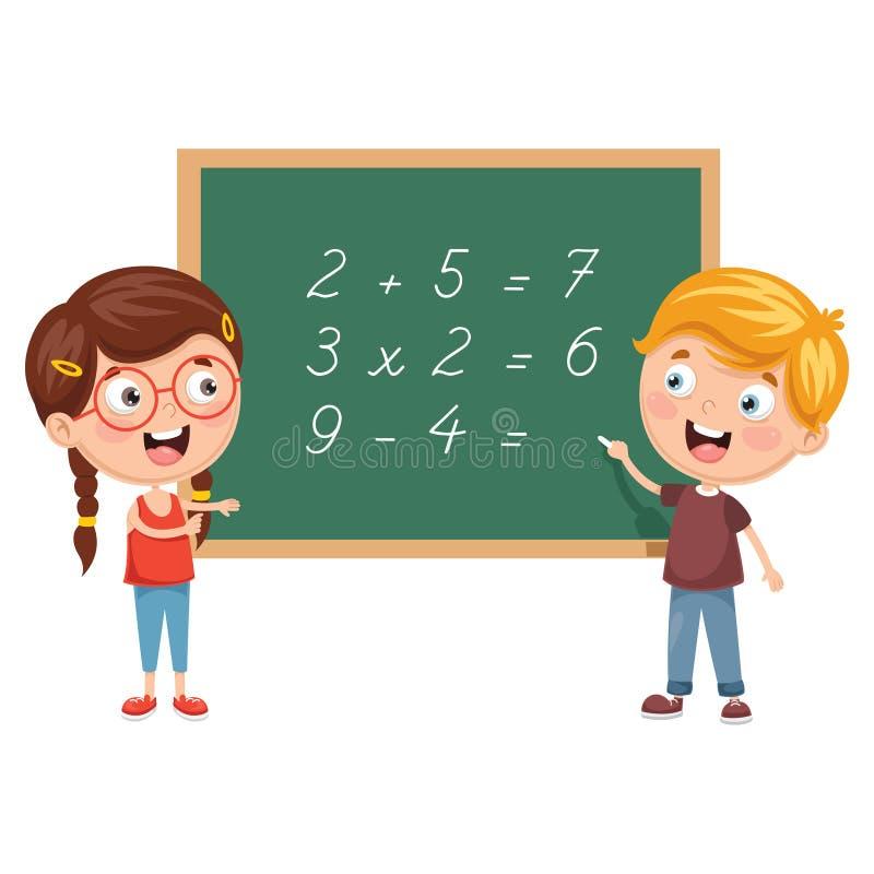 Illustrations de vecteur des enfants ayant la leçon de maths illustration de vecteur