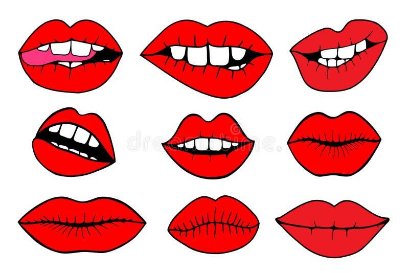 Illustrations de vecteur - lèvres douces illustration de vecteur