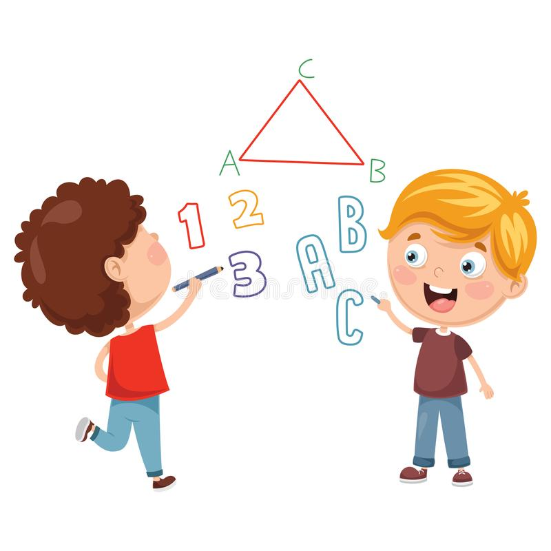 Illustrations de vecteur de l'inscription d'enfants illustration de vecteur