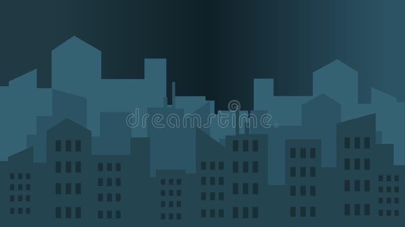 Illustrations de vectro de ville illustration stock