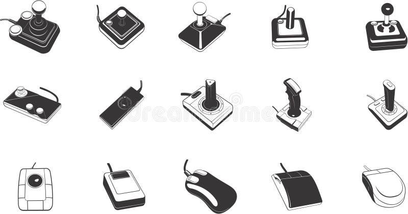 Illustrations des contrôles de jeu illustration libre de droits