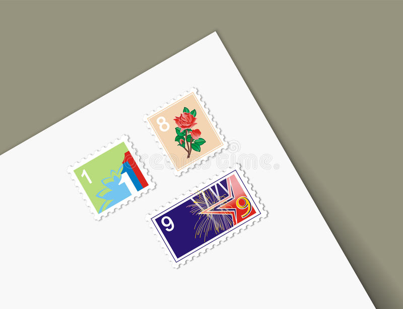 Download Illustrations Different Stamps Letter Royalty Free Stock Images - Image: 33472889