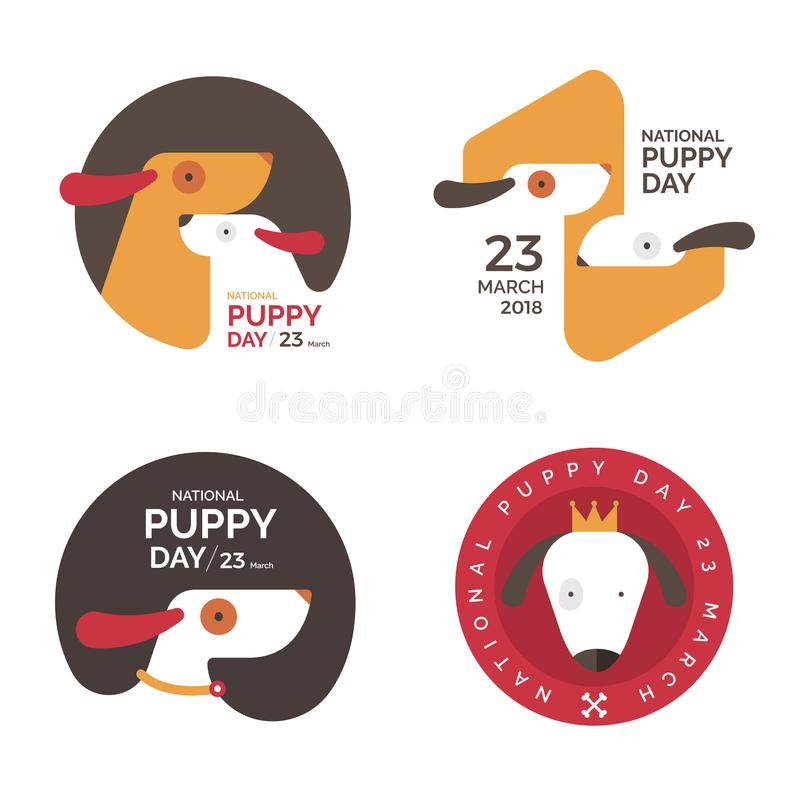 Illustrations concept National puppy day. Vector illustrate. vector illustration