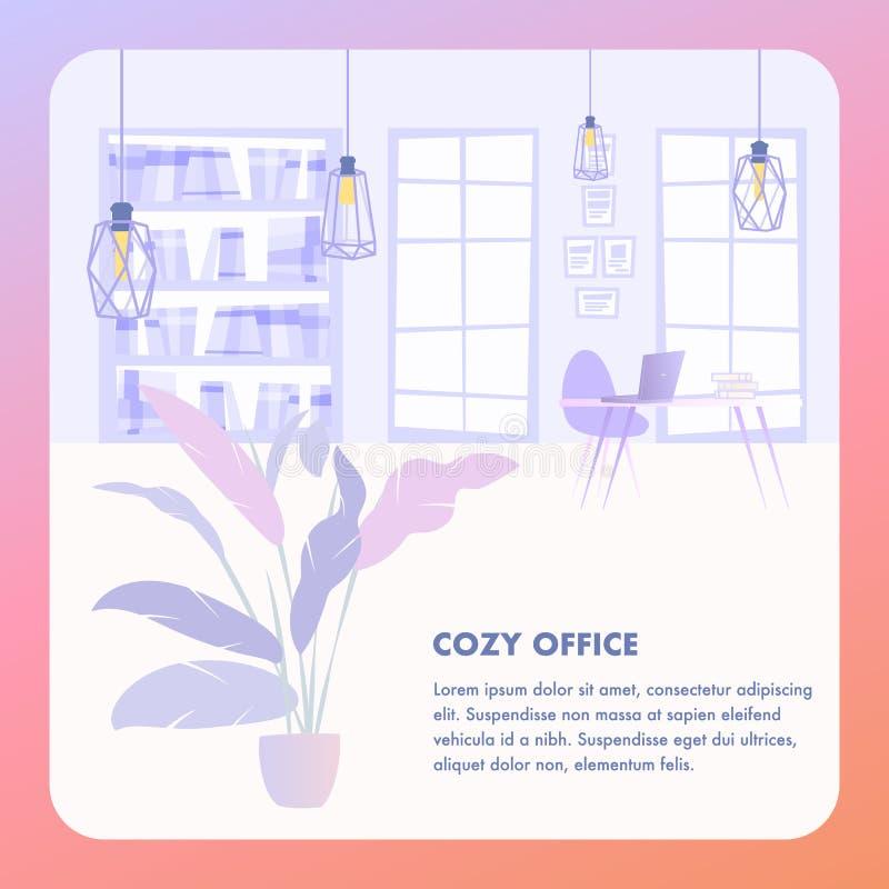 Illustrations-gemütliches Büro-InnenUnternehmen vektor abbildung