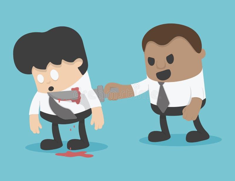 Illustrations-Geschäftsmannerpressung Konzept lizenzfreie abbildung