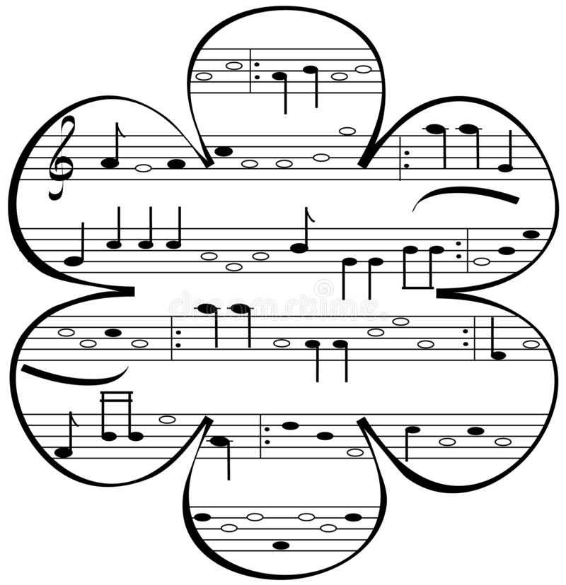 Illustrations-Musikblume stock abbildung