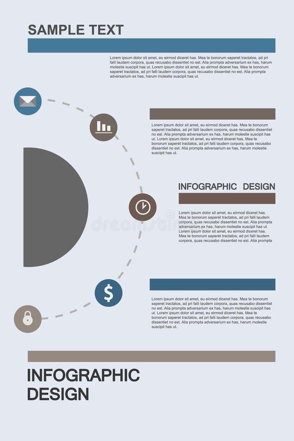 Illustrations plates d'infographics d'affaires image stock