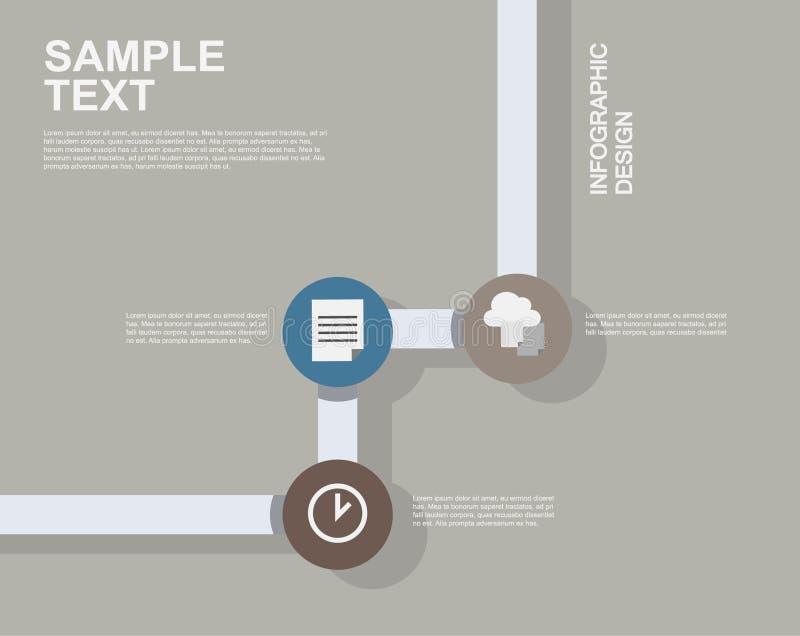 Illustrations plates d'infographics d'affaires images libres de droits
