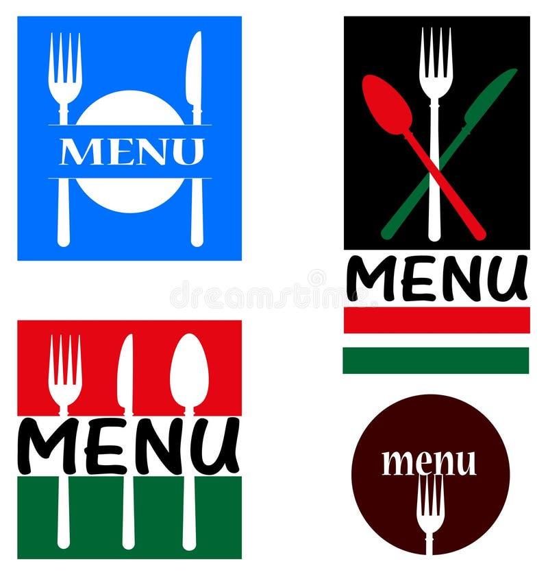 Illustrations pour le restaurant illustration libre de droits