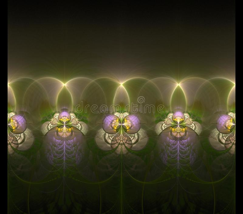 Illustrations  psychedelic fractal futuristic geometric colorful royalty free illustration