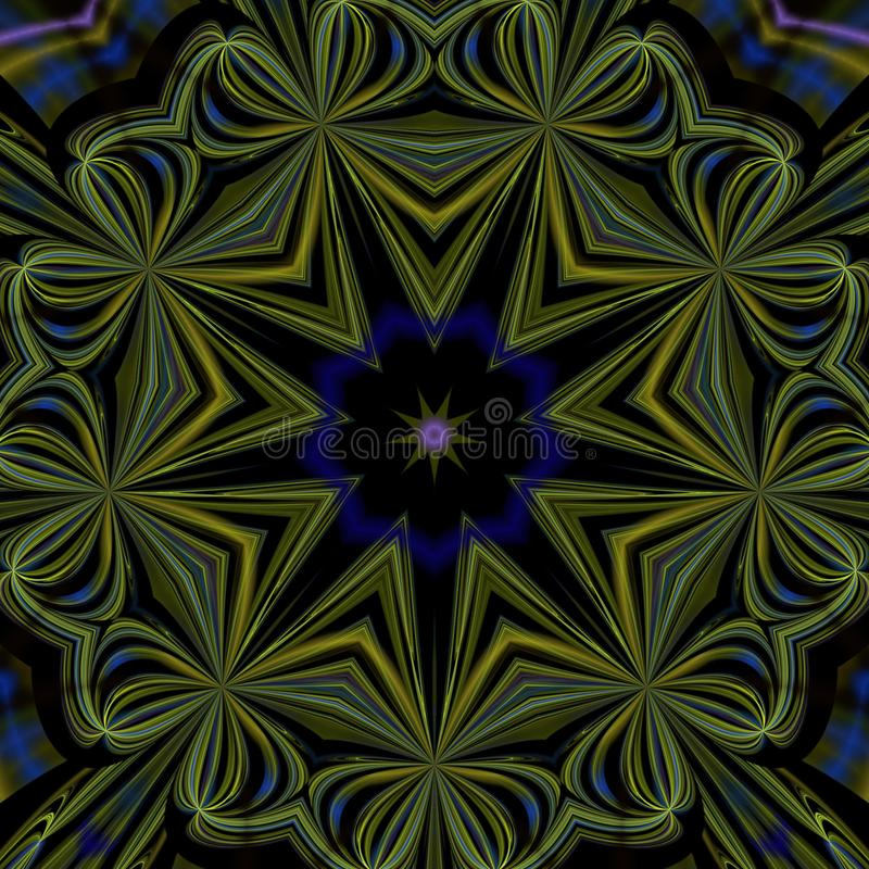 Illustrations  psychedelic fractal futuristic geometric colorful royalty free stock images