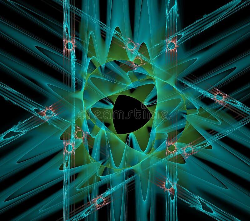 Illustrations  psychedelic fractal futuristic geometric colorful. Magic shape wave geometric print galaxy decorative kaleidoscope vector illustration