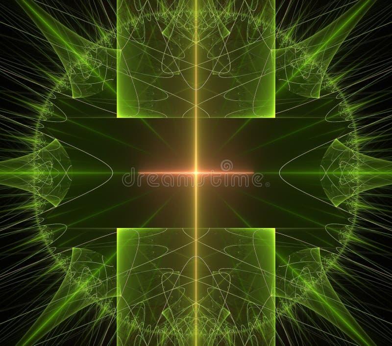 Illustrations  psychedelic fractal futuristic geometric colorful. Magic shape wave geometric print galaxy decorative kaleidoscope royalty free illustration