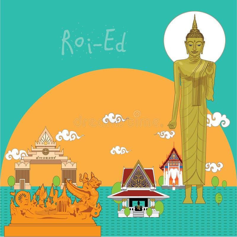 Illustrations-ROI-Ed-Provinz von Thailand lizenzfreie abbildung