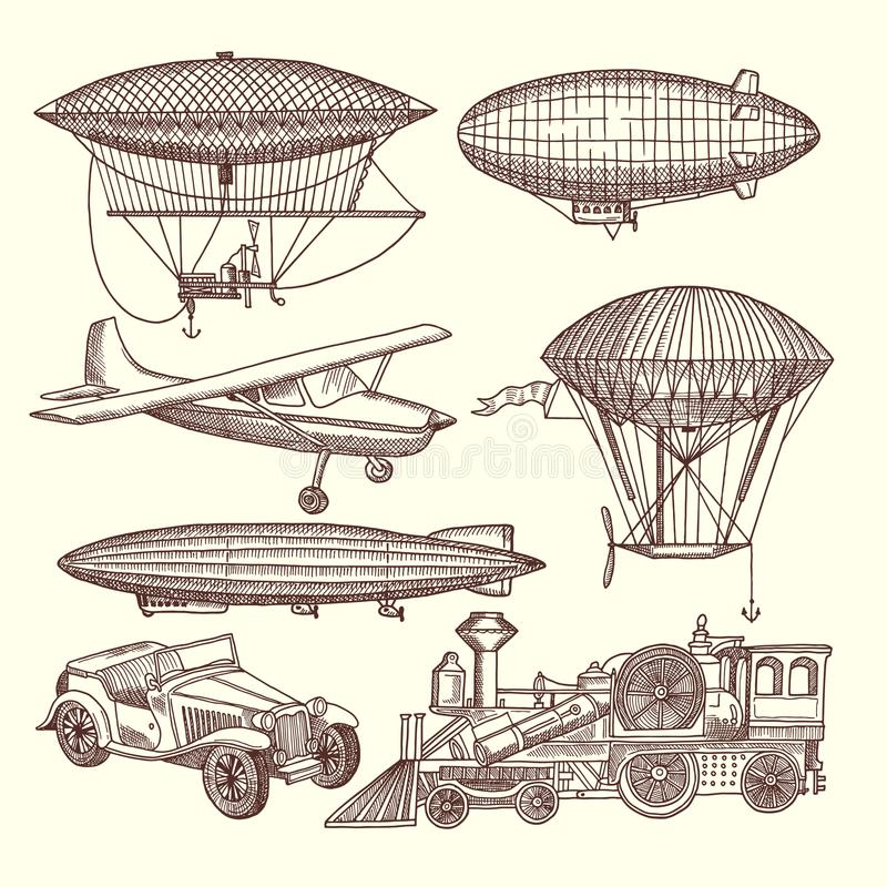 Steampunk clipart dirigible, Steampunk dirigible Transparent FREE for  download on WebStockReview 2020