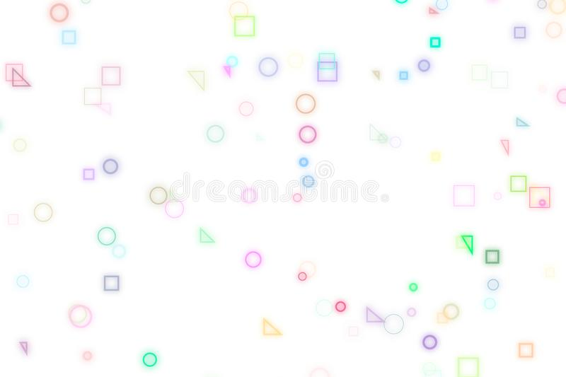 Illustrations of shape. For wallpaper or graphic design. Pattern, geometric, drawing, cover & motion. royalty free illustration